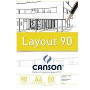 Bloco Canson de Layout Técnico A4 50 Fls 90G/M2 66667033 27889