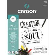 Bloco Canson Marker Lettering 24X32Cm 20 Fls 180Gr/M2 60109921 28268