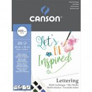 Bloco Canson Mix Media Lettering 24X32Cm 20 Fls 2000Gr/M2 60109829 28269