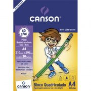 Bloco Canson Quadriculado 1X1 A4 60G 30 Fls 66667095 26833