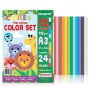 Bloco Color Set Ecocores A3 29,7X42,0 24 Fls Eccs0002 28900