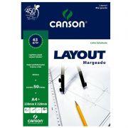 Bloco de Layout A4+ 50 Folhas 23X32Cm Margeado 66667076 Canson 14123