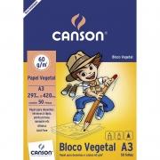 Bloco de Papel Vegetal A3 50 Fls 60G 66667080 Canson 14125