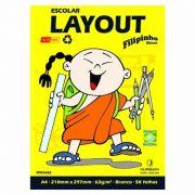 Bloco Filiperson Layout Escolar Branco 63Gr A4 (210X297) Com 50 Fls 01642 05412