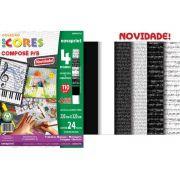 Bloco Novaprint Ecocores Compose P/B 110Gr 32X23 24 Fls Eccc0001 28895