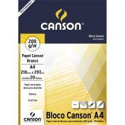 Bloco Para Desenho A4 Branco 200gr 20 Fls 66667045 Canson 24405