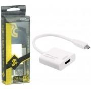Cabo Adaptador USB Tipo C 3.1 X HDMI Femea 4K 5+ 018-7491 29589
