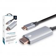 Cabo Adaptador USB Tipo C Macho X HDMI Macho 4K 1.8M 5+ 018-7450 29590