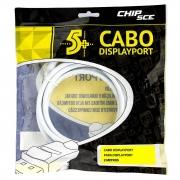 Cabo Displayport + Displayport 1.2 Branco 2M 5+ 018-7493 29582