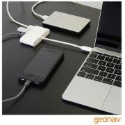 Cabo Geonav Adaptador  USB-C  P / 4X USBs F Branco - Uca07 24740