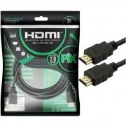 Cabo HDMI Gold 2.0 HDR 4K 19 Pinos 3M Pix 018-2223 29592