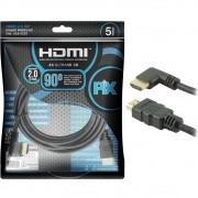Cabo HDMI Gold 2.0 HDR 4K 90 Graus 5M Pix 018-3325 29576