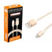 Cabo Micro USB Premium 1,5 Metros Dourado Mic15G Geoanv 24221