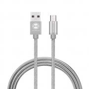 Cabo Micro USB  XTRAX  1,5 metros Cinza MOCM15CE 30258