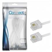 Cabo Telefone Liso Branco 10 M Connect 018-1370 29584