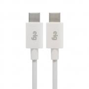Cabo USB Tipo C Para USB Tipo C ELG 1M Branco TC2TC 28691