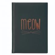 Caderneta UP4YOU Cool Cat Meow Preta Cad0023Up 28120