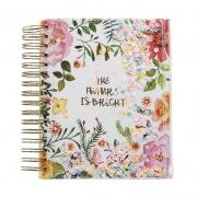 Caderneta UP4YOU Floral Espiral Pink Cad0030Up 28123