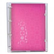 Caderno Argolado DAC Vision Capa PVC Rosa 192 Fls 2673 28455