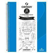 Caderno Canson Sem Pauta Expressão e Arte Azul Turquesa 140G 40F 71400264BR 27904