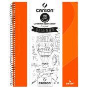 Caderno Canson Sem Pauta Expressão e Arte Laranja 140G 40F 71400265BR 27905