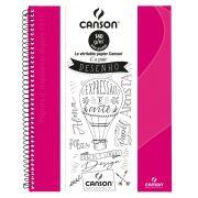 Caderno Canson Sem Pauta Expressão Rosa Pink 140G 40F 71400266BR 27906