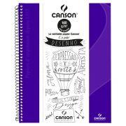 Caderno Canson Sem Pauta Expressão Ultra Violeta 140G 40F 71400267BR 27907