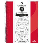 Caderno Canson Sem Pauta Expressão Vermelho 140G 40F 71406819BR 27910