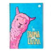 Caderno Cicero Capa Dura Universitário 1X1 Lhama Drama 80 Fls 6634 26520