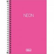 Caderno Espiral 1/4 Neon Rosa 147940 Tilibra 23463