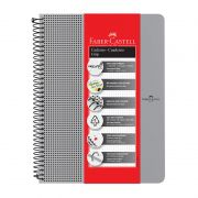 Caderno Faber-Castell Capa Dura Universitário 80 Fls Grip Prata CDNOFF/PT 28037