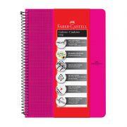 Caderno Faber-Castell Capa Dura Universitário 80 Fls Grip Rosa CDNOFF/PTRS 28045