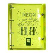 Caderno Fichário DAC Cristal Bubble Color Amarelo 192 Fls 2396Am 28456