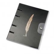 Caderno Fichario Otima PVC 10X1 Ultra Noir Pena 190 Fls 03022400006 28968