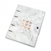 Caderno Fichario Otima Ultra 10X1 PVC Pink Stone Marmore 190 Fls 03022154009 28971