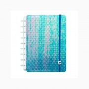 Caderno Inteligente Médio Azul Holografico CIMD3055 27964