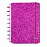 Caderno Inteligente Médio Folhas Glitter Pink CIMD3052 28087