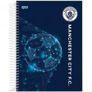 Caderno Jandaia Manchester City Capa Dura Universitário Espiral 10X1 200 Fls 66707-20 28279
