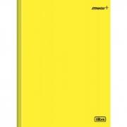 Caderno Mais Capa Dura Amarelo Costurado Brochura 96 Fls. Tilibra 14617