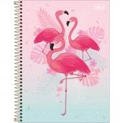Caderno Tilibra Capa Dura Universitário 10X1 160 Fls Flamingo Aloha 294314 26365