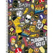 Caderno Tilibra Capa Dura Universitário The Simpsons 1M 80 Fls 308137 27808