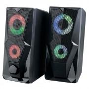 Caixa de Som Gamer Multilaser 2.0 15W LED RGB P2 SP330 29869