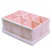 Caixa Organizadora Com 6 Porta Objetos Rosa Claro Dello 2193.W.0004 25946