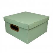 Caixa Organizadora Dello 25X25X15Cm P Linho Verde 2204.V 26194