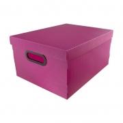 Caixa Organizadora Dello 38X29X18,5Cm Linho Rosa Pastel 2192.W.0005 26180