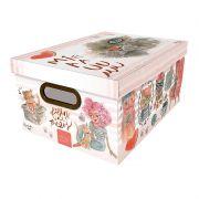 Caixa Organizadora Dello 38X29X18Cm Gato 2214.02.0005 27151