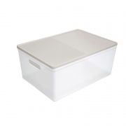 Caixa Organizadora Dello Soul Grande 424X300X185 Cristal/Nude 3083.Hg.0005 29347