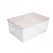 Caixa Organizadora Dello Soul Grande 424X300X185 Cristal/Rosa 3083.Hw2.0005 29348