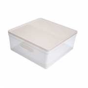 Caixa Organizadora Dello Soul Media 280X280X125Mm Cristal/Nude 3082.Hg.0006 29344