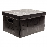 Caixa Organizadora Desmontável Preto 310X250X185Mm P 2170H0005 Dello 21989